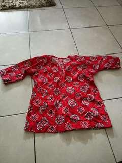 Baju kurung cotton kanak2