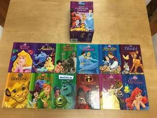 90% new Disney Mini Storybook library 12 books