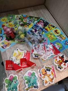 寵物小精靈pokemon貼紙擦子膠模型