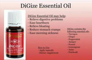 Brand New Young Living Essential Oil Digize 5ml