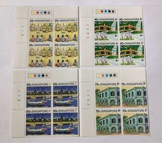 Singapore 1990 tourism in blk of 4 mnh