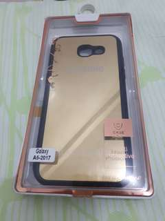 Mirror black and gold case for Samsung A5 2017