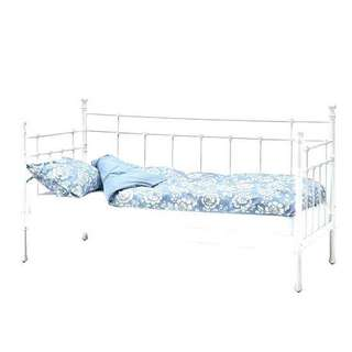 IKEA day white frame bed with mattress
