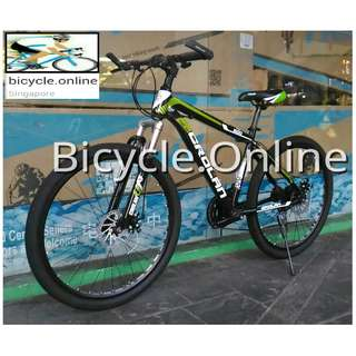 "24"" Crolan Mountain Bike / MTB ✩ 21 Speeds, front suspension, Disc brakes ✩ Brand New Bicycles"
