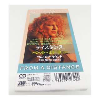 "BETTE MIDLER Rare Japan 3"" CD 1990 From A Distance"