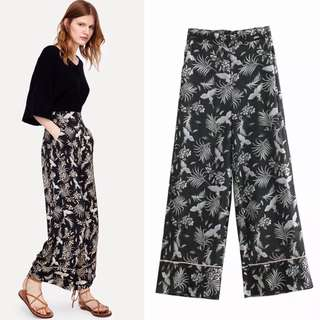 Europe and the United States wholesale 2018 summer loose holiday wind printing women's wide leg pants casual pants