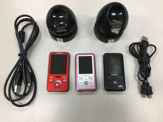 Sony mp3 with speaker and headset