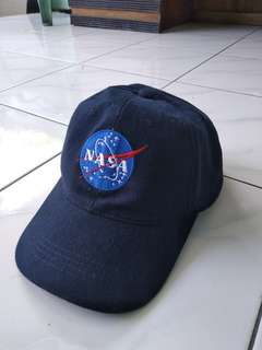 Topi Baseball Nasa Biru Navy