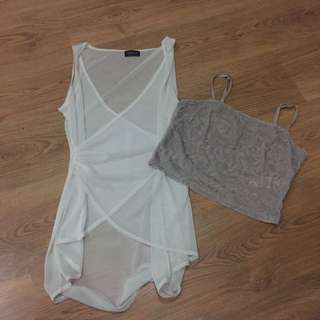 TOP COMBO see through / mesh tanks