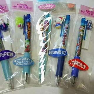 Hello Kitty 日本地區限定 原子筆 鉛芯筆 深藍