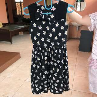 Jessica Liu Flower Black Casual Dress