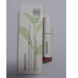 Innisfree Vivid Creamy Lip Tint & Eco Natural Green Tea BB cream &