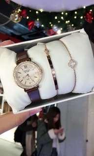 代購美國卡斯麗 CRISELLA 腕錶手鏈套裝