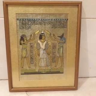 Egypt King Papyrus Artwork Frame