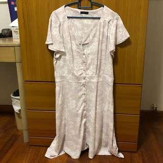 Button down ruffle dress