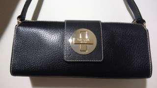 Preloved Kate Spade Turnlock shoulder black bag