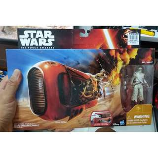 BRAND NEW 3.75-inch Star Wars Rey's Speeder (Jakku) Action Figure Toy