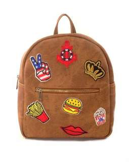 Backpack with patches