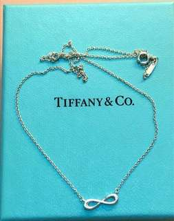 Authentic Tiffany 925 silver infinity necklace 頸鏈