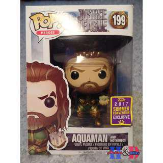 Funko Pop DC Justice League Aquaman and Motherbox 2017 Summer Convention Exclusive