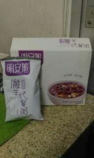 魔芋代餐粥 代餐粉 減肥 瘦身 Keep Fit 五谷雜糧紅豆薏米低卡紫薯食品營養飽腹早晚餐粉 蒟蒻 7包