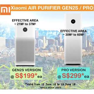 Ready stock Xiaomi Air Purifier 2S/ Pro - OLED display app control