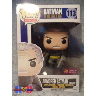Funko Pop Armored Batman Unmasked PX Previews Exclusive