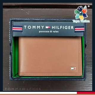 全新 Tommy Hilfiger Men's Leather Wallet 真皮銀包, 灰啡色 多卡位