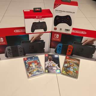 WTS/WTT- Nintendo Switch + Extra Controller + 1 Game