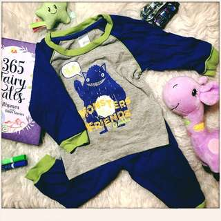 Anakku 'Monsters are our friends' pjs size 12-18m