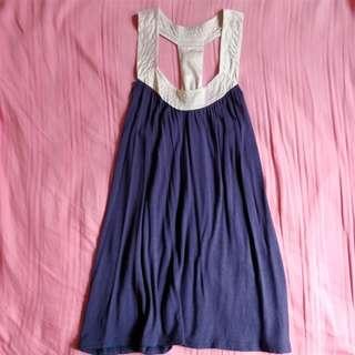 🚚 navy tunic top (: