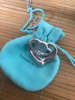 Tiffany 頸鏈 Double heart