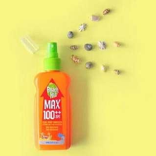 Beach Hut Max SPF 100++ Sunblock Spray