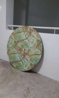 Rare Beautiful Vintage Large Round marble table top without table metal legs