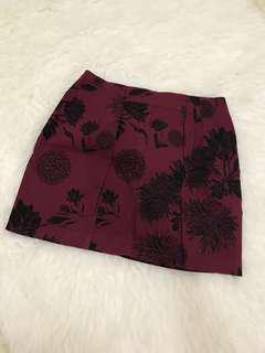 Red black rose skirt