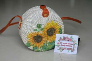 Painted Rattan Bags (On Hand)
