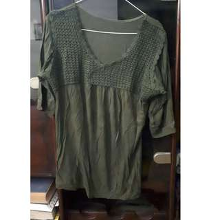 Blouse ijo army