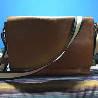 Coach Sullivan Messenger in Smooth Dark Saddle Leather (71726) authentic