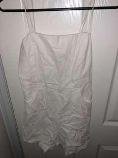 White glassons playsuit