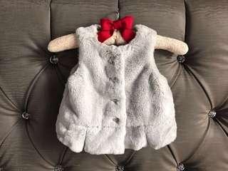 Gymboree 18-24M Faux Fur Peplum Winter Vest for Baby Girl