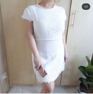Zara Textured Lace Dress