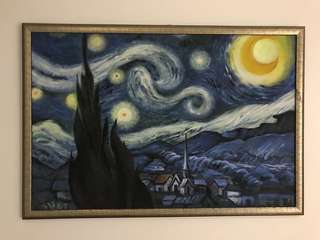 Brand New! Starry Night Replica hand painted (with frame)