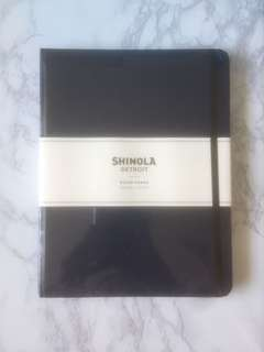 🚚 BN Shinola Navy Large Hard Linen Ruled Pages