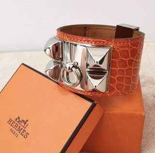 Authentic Hermes Medor Croc Bracelet