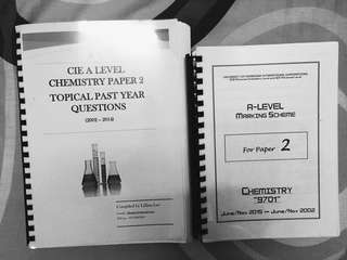 AS Chemistry Topical Past Years & Mark Scheme