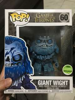 Funko pop game of thrones giant wight eccc sce 2018