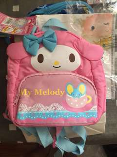 全新 My Melody backpack