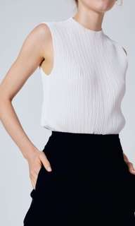 Our Second Nature High-Neck Pleated Top