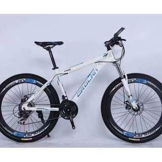 "CROLAN 26"" Sports Rims MTB / Mountain Bike ✩ 24 Speeds, Disc brakes, front suspension ✩ Brand new bicycles"
