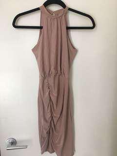 Boohoo Pink Mauve Slinky Dress